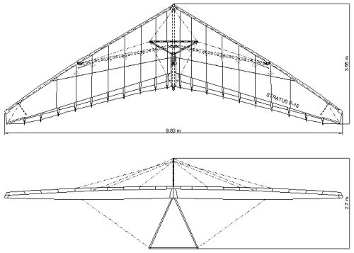 Technical drawing of Stratus P-15 wing