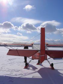 Samolot SkyRanger widziany od tyłu